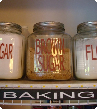 DIY pantry labels