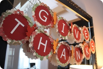 DIY give thanks banner