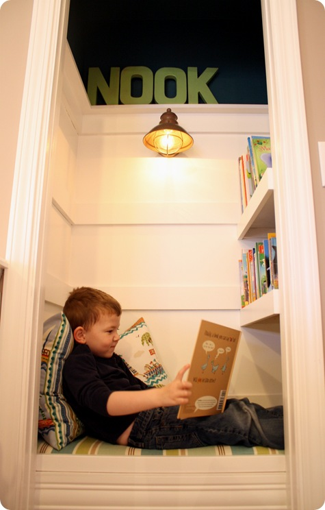 closet turned office, book nook,