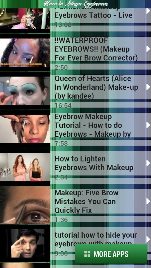 How to Shape Eyebrows - screenshot