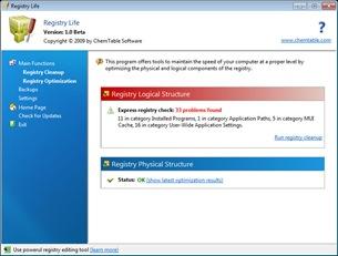 Registry Life Free Windows 7 Registry Cleaner