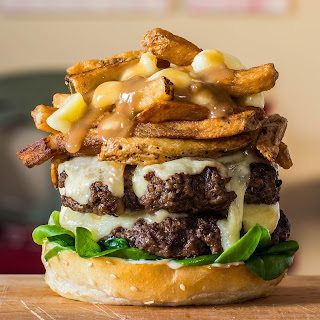 The Double Cheese Poutine Burger