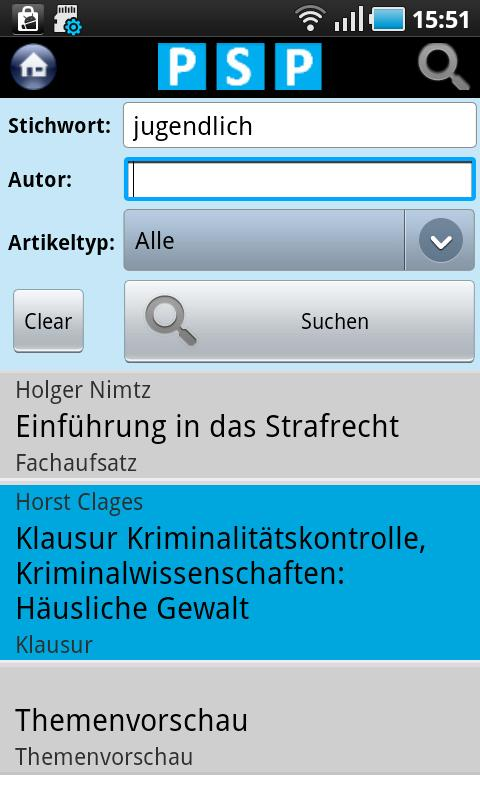 Polizei Studium Praxis - screenshot