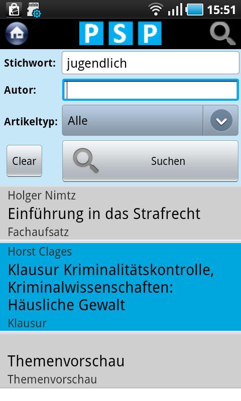 Polizei Studium Praxis - screenshot