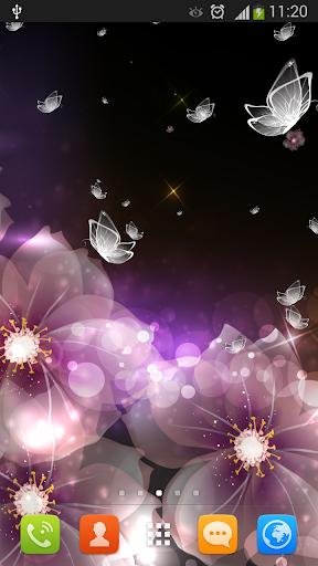 クリスタル蝶の壁紙