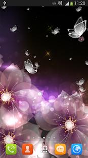 水晶蝴蝶壁纸