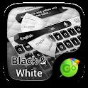 Black and White Keyboard Theme icon