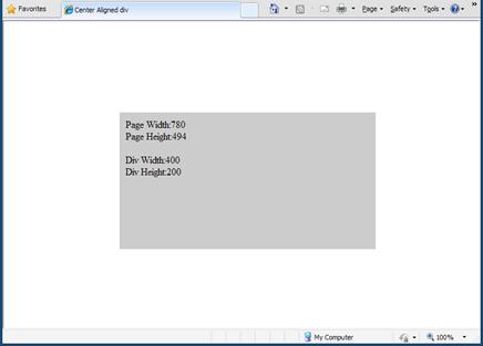 Abhinay 39 s web dev blog center align div tags horizontally - Div horizontal align ...