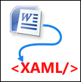 Word to XAML converter logo
