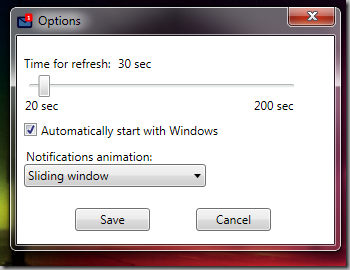 real size settings window