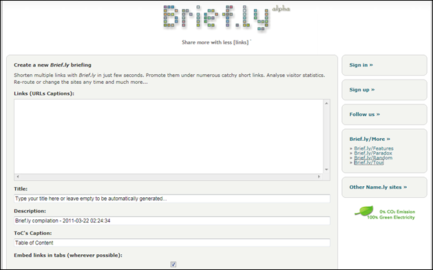 brief.ly site screenshot