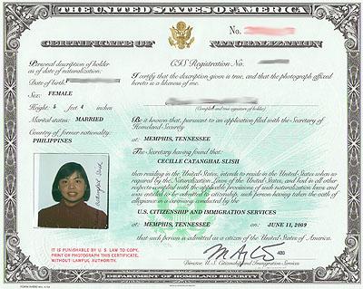 Get A Copy Of Naturalization Certificate