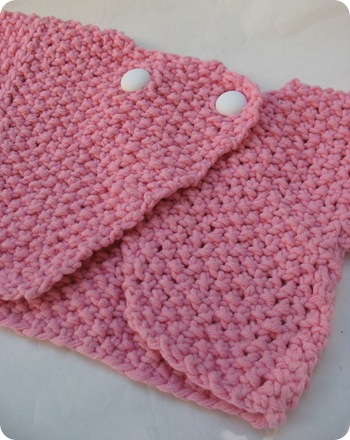 Pink baby sweater done!