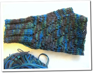 sock yarn mitts