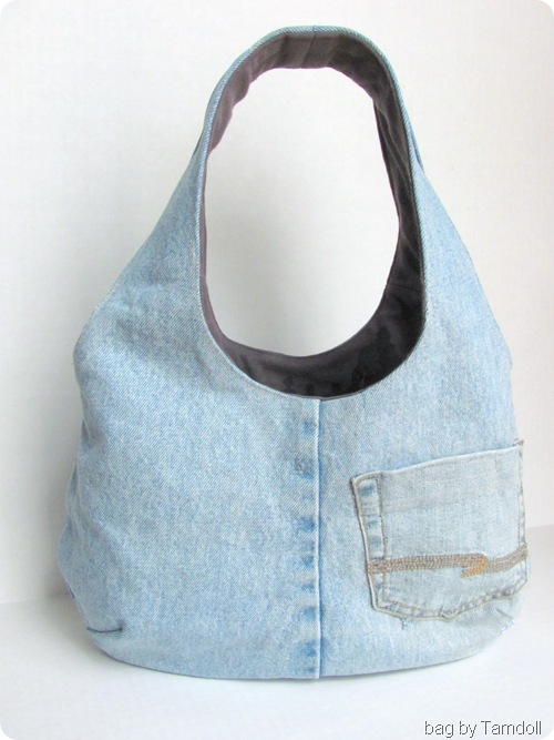 Tamdoll's Reversible Goonies Bag Denim Side