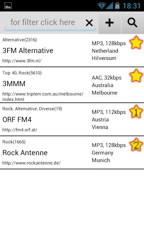 Radio Alarm Clock AtomaRadio - screenshot