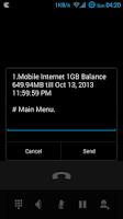 Screenshot of *GPRS# Balance Checker USSD