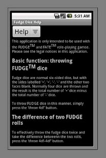 FUDGE Dice - screenshot thumbnail