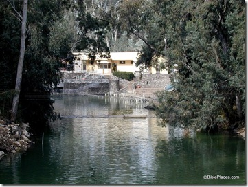 Yardenit baptismal area on Jordan River, tb040300