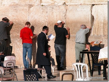 Men praying at Western Wall, tb092603110
