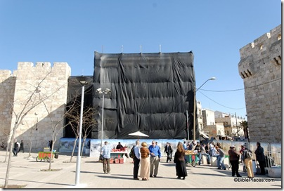 Jaffa Gate under scaffolding, tb011610598