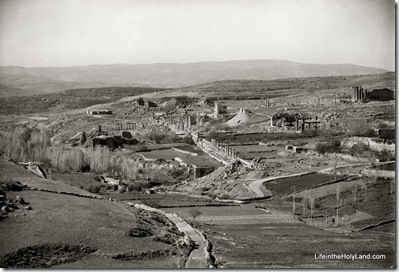 Gerasa, general view of ruins from north, mat02743
