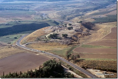 Hazor upper city aerial from east, tbs112290011