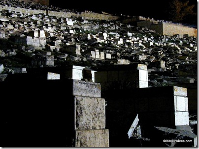 Tombs on Mt of Olives at night, tb042100801