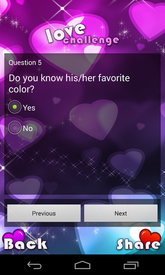 love calculator - screenshot