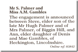 WeddingAnnouncement - Daily Telegraph