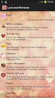Screenshot of Love Letters & Romantic Quotes