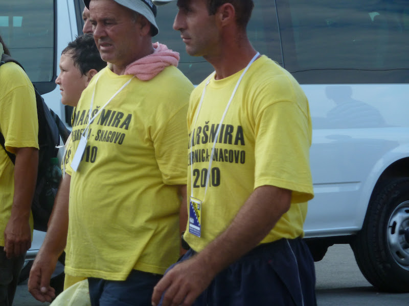 Marchers Srebrenica - Snagovo