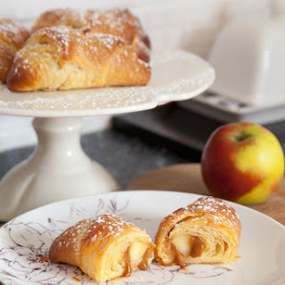 Three Ingredient Caramel Apple Croissants