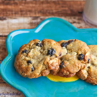 Blueberry Lemon Cookies with White Chocolate Chunks.