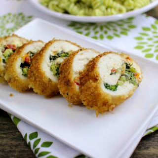 Chicken Spinocolli - Breaded Stuffed Chicken Breast With Spinach, Broccoli and Cheese.