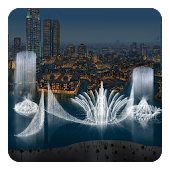Dubai Fountain Live Wallpaper