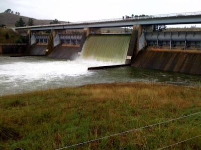 Scrivener Dam lets go