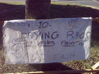 pot drying rack advertising