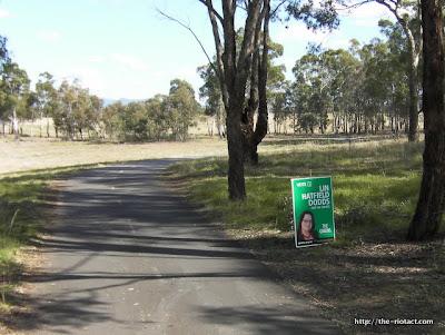 Bike path postering