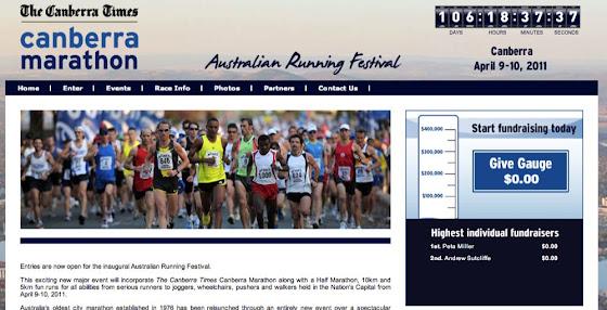canberra marathon screenshot