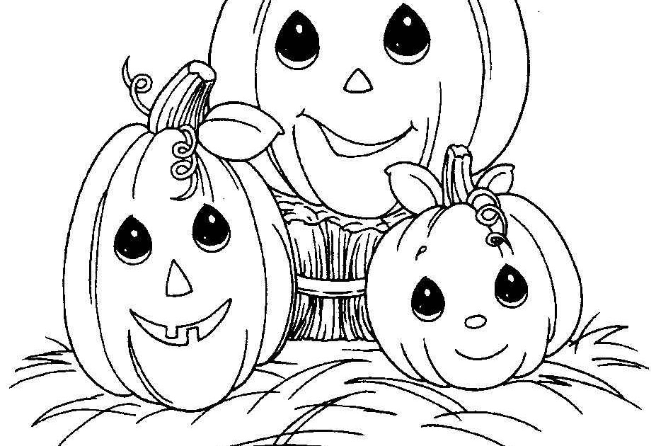 Pumpkin Halloween Precious Moments Coloring Pages