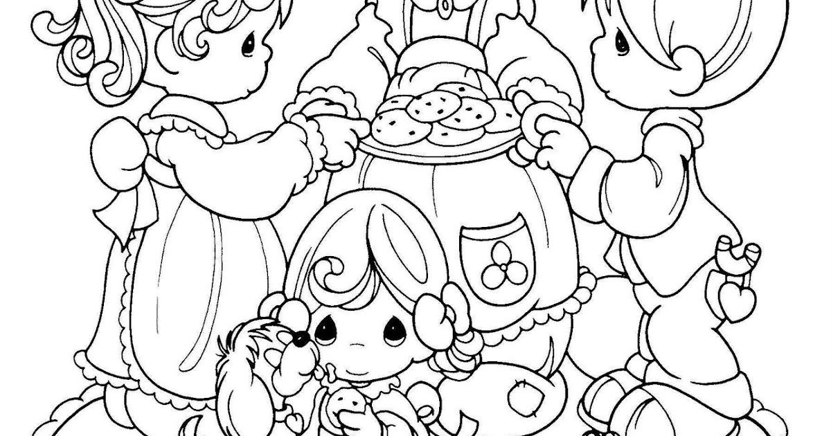 Dibujos Para Colorear Las Galletas: Pinto Dibujos: Mamá Dando De Comer Galletas Para Colorear