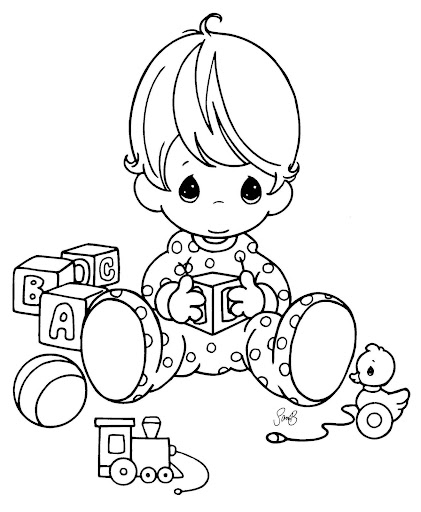 precious moment baby coloring pages - photo #8