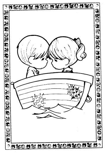Mi amor coloring pages ~ Pinto Dibujos: Precious moments dibujos del amor y la amistad