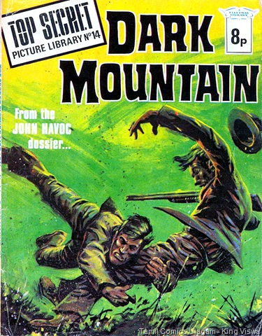 Top Secret Picture Library 14 Jan 1975 John Havoc Dark Mountain Cover