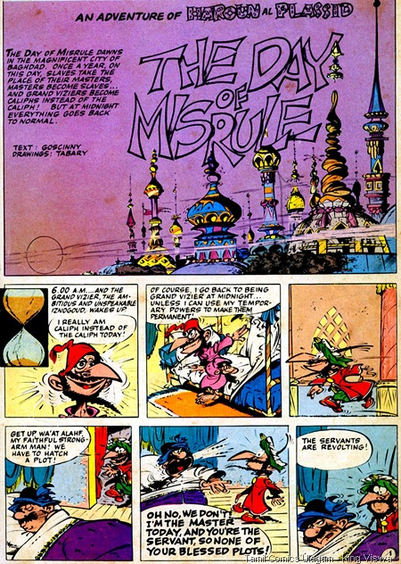 EgMont Daragud 1979 Edition IznoGoud The Infamous 1st Story Page 3 The Day of MisRule Lion Comics Issue No 160 Thalaikeezhai Oru Dinam
