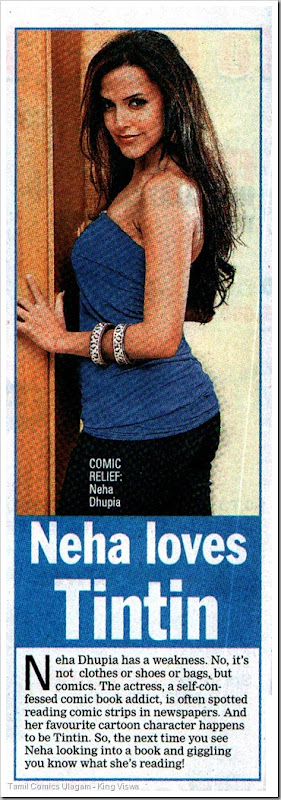 Times of India Chennai Eition Dated 02042010 Chennai Times Page 9 Neha Loves TinTin