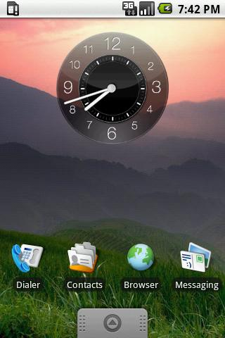 Hero Night Clock Widget 2x2 - screenshot