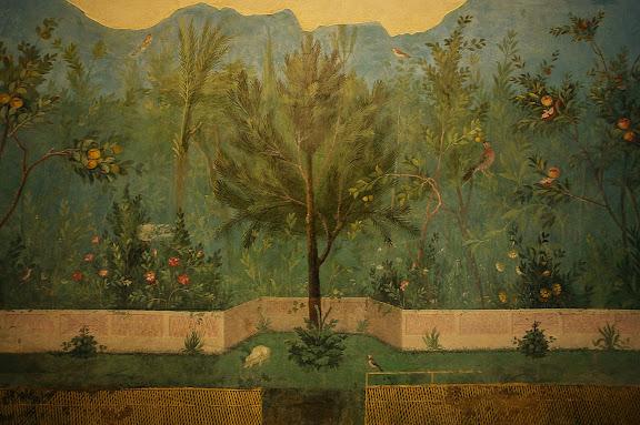 Frescos provinientes de la Casa de Livia en el Palatino.Museo Palazzo Massimo alle TermeRoma, Italia