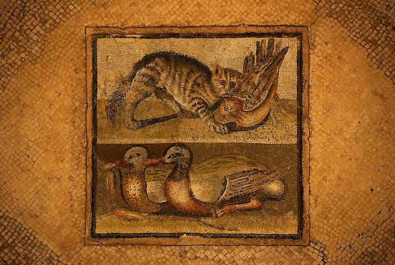 Mosaicos romanos.Museo Palazzo Massimo alle TermeRoma, Italia